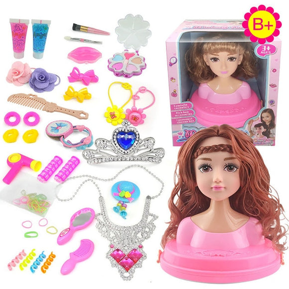 Dolls Styling Head Makeup Comb Hair Toy Doll Set