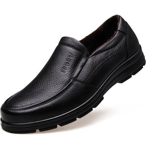 Genuine Leather Shoes Plush Mens Casual Shoes - Tania's Online Closet, LLC