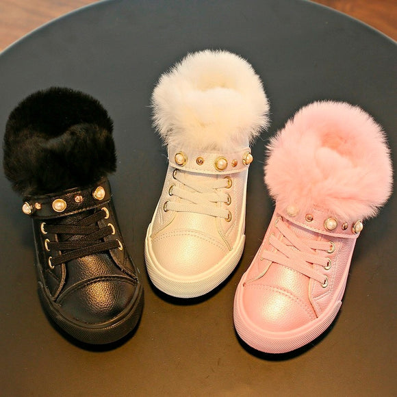 Short Boots sneaker Winter New Fur Shoes