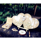 Guestbook Wedding Personalized Wedding Deco Custom Wood Guestbook Sign with Pen Set - Tania's Online Closet
