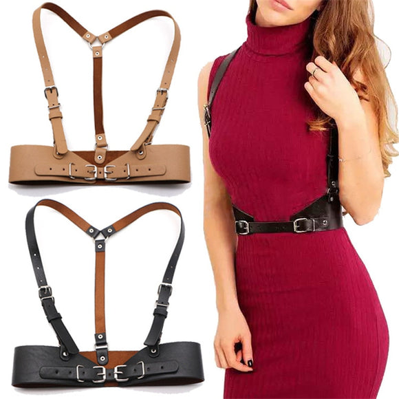 Women Leather Body Harness Chest Belts - Tania's Online Closet