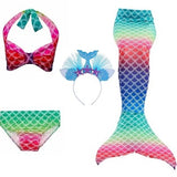 Girls Swimmable Mermaid Tails Swimsuit Bikini Bathing Suit - Tania's Online Closet, LLC