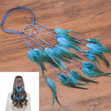 Feather Hair Band Bohemian Elastic Gypsy Festival Headband Women's Fashion - Tania's Online Closet, LLC