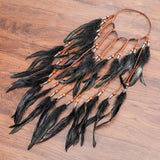 Feather Hair Band Bohemian Elastic Gypsy Festival Headband Women's Fashion - Tania's Online Closet