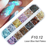 Holographic Nail Glitter Flakes Sequin 12pcs - Tania's Online Closet