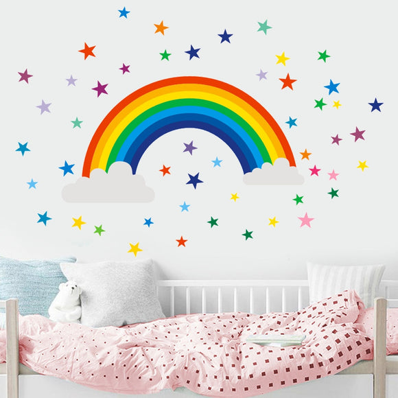 Rainbow Decal Bedroom Vinyl Art Mural Children Bedroom Nursery - Tania's Online Closet