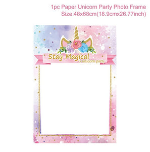 Unicorn Party Supplies photo booth - Tania's Online Closet