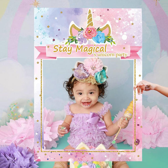 Unicorn Party Supplies photo booth - Tania's Online Closet, LLC