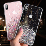 Luxury Bling Glitter Phone Case For iPhone- Transparent Cases - Tania's Online Closet
