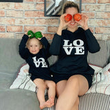 Mom and Daughter Matching Hooded Dresses - Tania's Online Closet, LLC