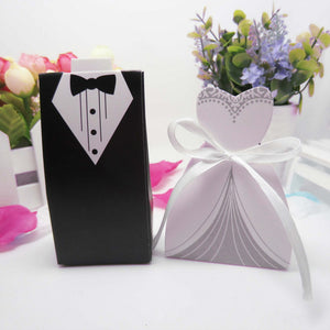 New 50 Pcs Laser Cut Candy Boxes Wedding Favors And Gifts With Ribbon - Tania's Online Closet