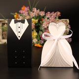 New 50 Pcs Laser Cut Candy Boxes Wedding Favors And Gifts With Ribbon - Tania's Online Closet, LLC
