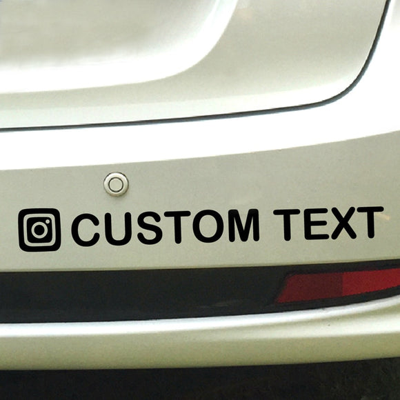 Personalized Custom Instagram Username Waterproof Car and Motorcycle Decals - Tania's Online Closet, LLC