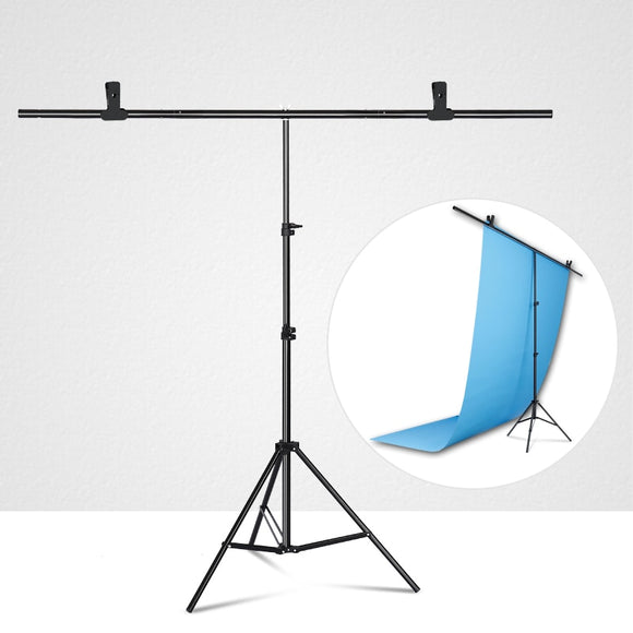 Photography T-shaped Background Backdrop Stand Adjustable Support System Photo Studio - Tania's Online Closet, LLC