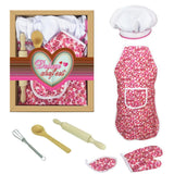 Pretend Play Cake Baking Apron Mitt Rolling Pin Training Cooking  Housework Set Kids Play Interactive Toy - Tania's Online Closet, LLC