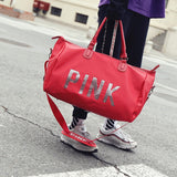 PINK Travel Bag Large Capacity Travel Duffle Bags - Tania's Online Closet