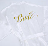 Women's Bridal Party Satin Robe - Tania's Online Closet