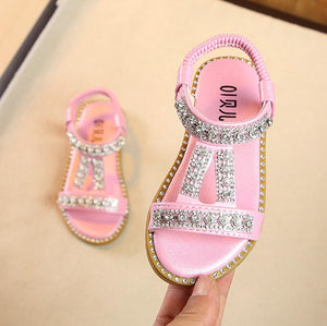Summer Style Girls Sandals Cute Bow Girls Princess Shoes - Tania's Online Closet, LLC