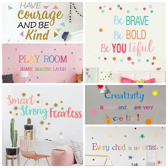 Colorful English Proverbs Wall Stickers bedroom Room  Wall Decoration - Tania's Online Closet