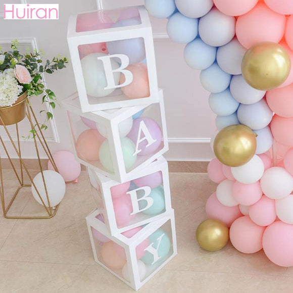Transparent Name Box DIY Letter Balloons Party Decor - Tania's Online Closet, LLC