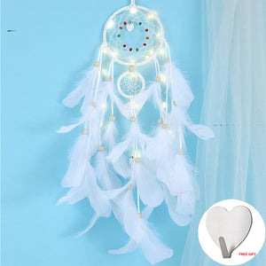 Wall Dreamcatcher Led Feather Dream Catcher - Tania's Online Closet