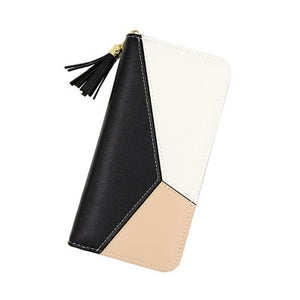 Women Long Zipper Luxury Brand Leather Clutch Wallets