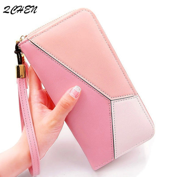 Women Long Zipper Luxury Brand Leather Clutch Wallets - Tania's Online Closet