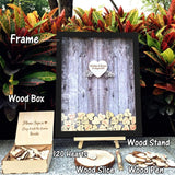 Wedding Guest Book Personalized Wedding Decoration Rustic Sweet Wedding Guestbook 120pcs Small Wood Hearts - Tania's Online Closet