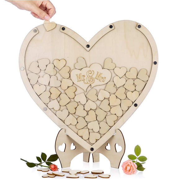 Wedding Guest Book Decor -Rustic Sweet Guestbook Wedding Wishes Hearts drop box - Tania's Online Closet, LLC
