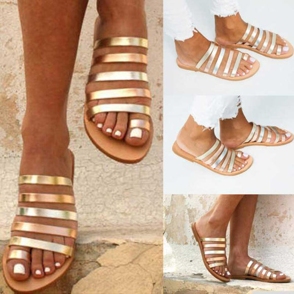 Women Flat Sandals Summer 2019 Gladiator Sandals - Tania's Online Closet, LLC