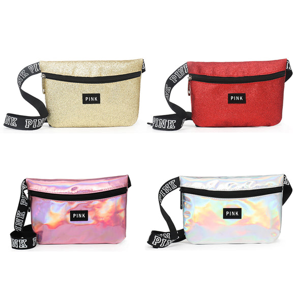 Women Pink Waist Bags Women Multi-function Waterproof Travelling Fanny Pack - Tania's Online Closet