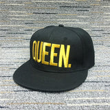 Unisex Couples letter baseball Caps Snapback Adjustable Hip Hop Hats for lovers KING QUEEN - Tania's Online Closet
