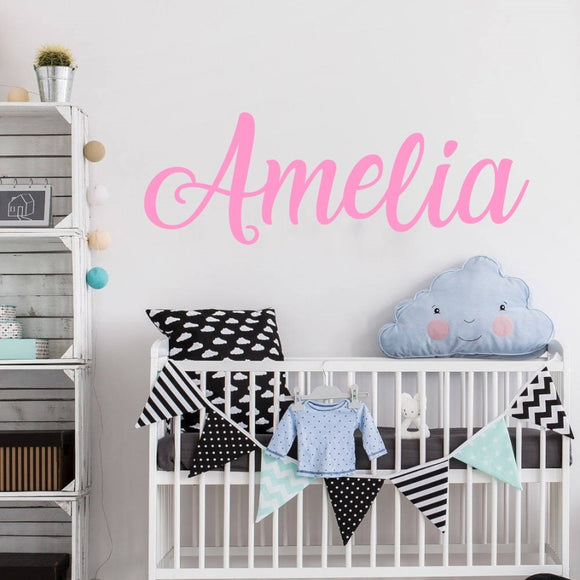 Name Wall Decal, Personalized  Wall Sticker, Boys  Girls  Decal, Nursery Decor, Vinyl Wall Decal - Tania's Online Closet, LLC