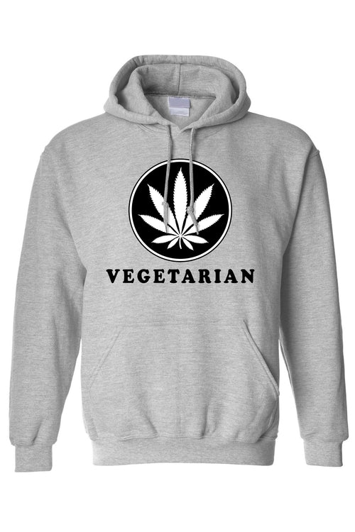 Men's/Unisex Pullover Hoodie Vegetarian Life Style - Tania's Online Closet