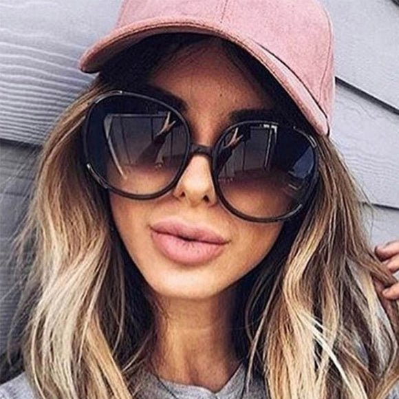 luxury round 2020 sunglasses woman Oversized female glasses gradient fashion - Tania's Online Closet, LLC