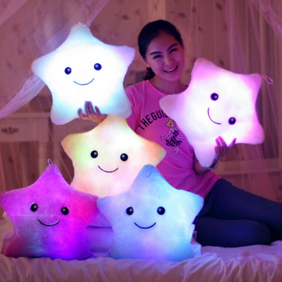 Toy Luminous Pillow Soft Stuffed Plush Glowing Colorful Cushion Led Light Toys
