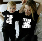 1pcs Mommy & Me Tee Shirt Best Mom Ever Best Son Ever Mama and Son T Shirts - Tania's Online Closet, LLC