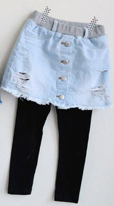 Girls Cave Jeans 2019  New Children Fashion Denim Skirt-pants - Tania's Online Closet