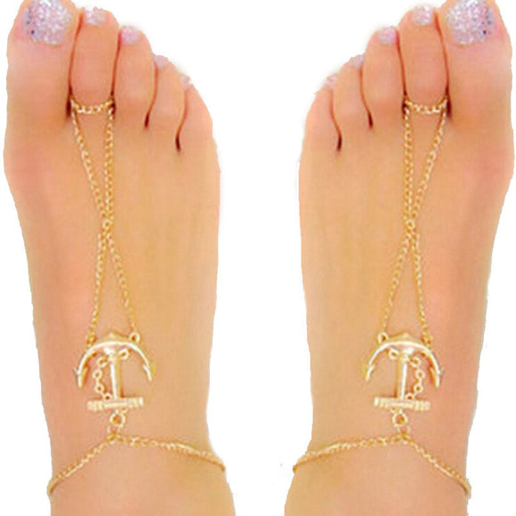 Fashion Women Anchor Anklet Bracelet Sandal Barefoot Beach Foot Jewelry - Tania's Online Closet, LLC