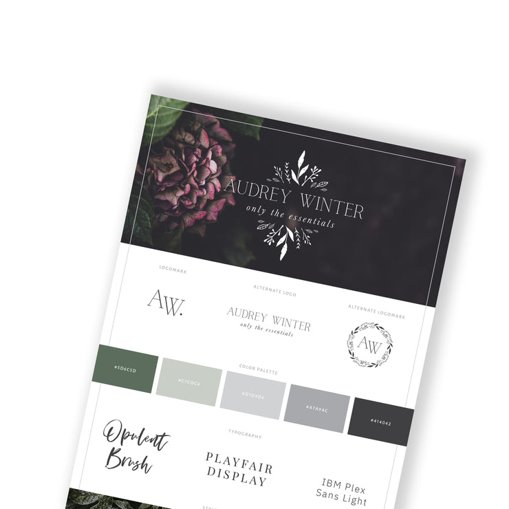AUDREY WINTER - Branded Website Template - Available on Wavoto