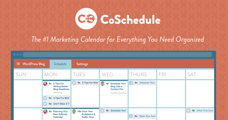 Coschedule Marketing Scheduler for Sequoia Clients