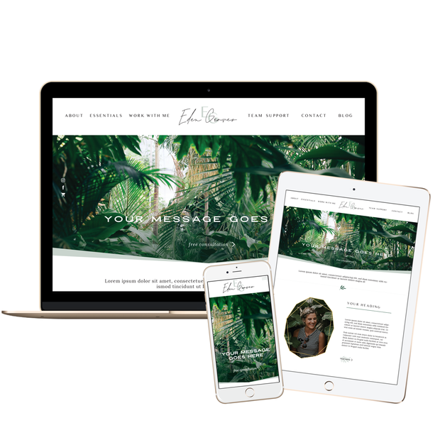 EDEN GROVES - Branded Website Template - Available on Wavoto