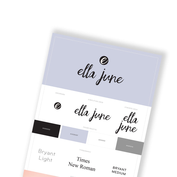 ELLA JUNE - Branded Website Template - Available on Wavoto