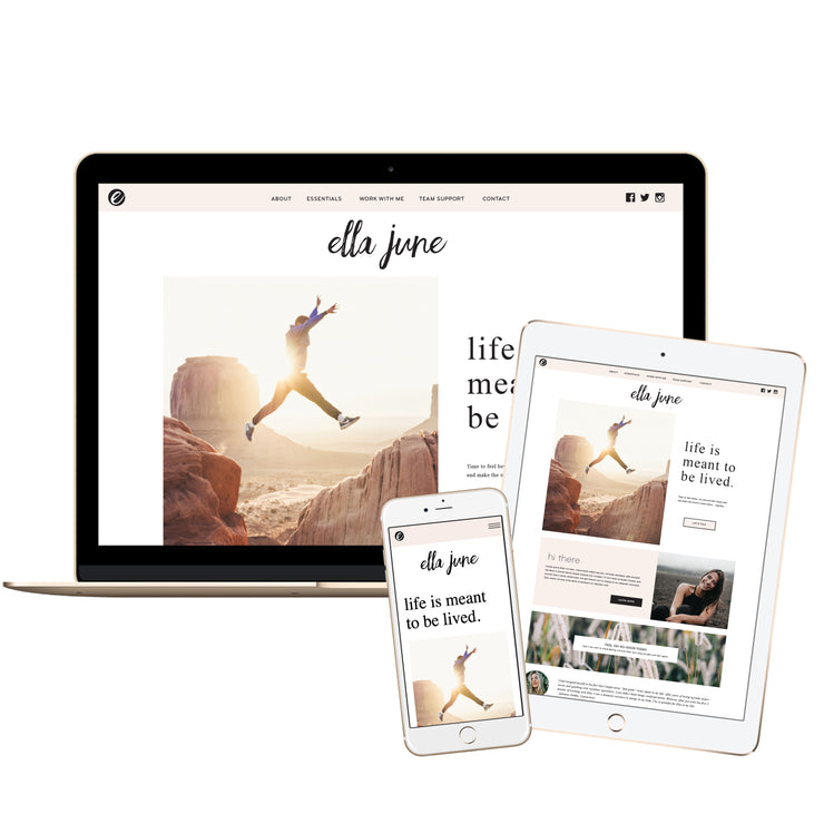 ELLA JUNE- doTERRA Website Template