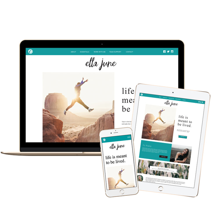 ELLA JUNE - doTERRA Website Template