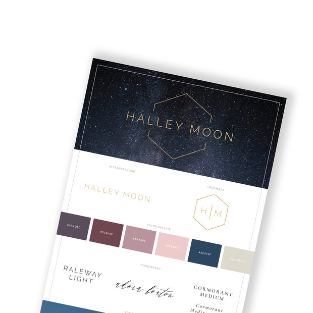 HALLEY MOON - Branded Website Template - Available on Wavoto