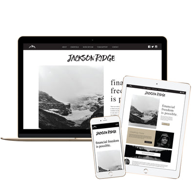 JACKSON RIDGE - Branded Website Template - Available on Wavoto