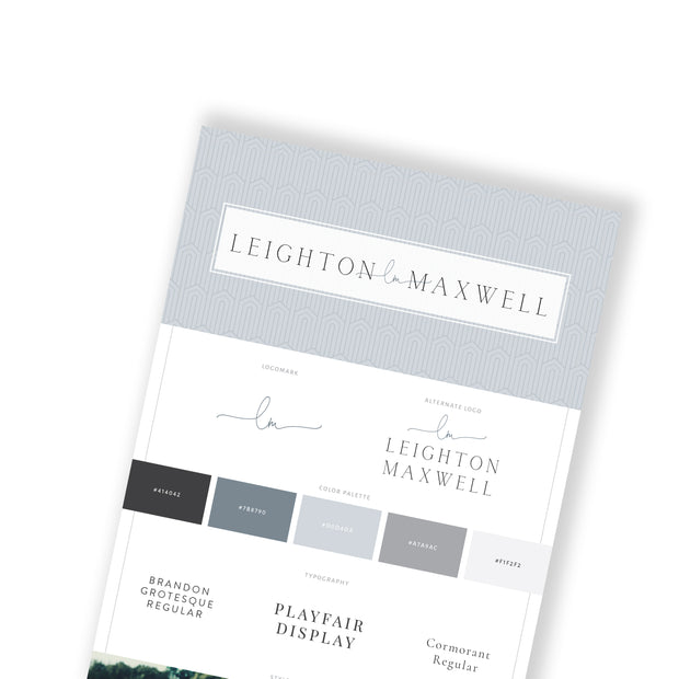 LEIGHTON MAXWELL -Branded Website Template - Available on Wavoto