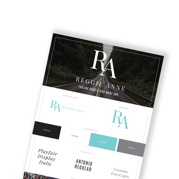 REGGIE ANNE - Branded Website Template - Available on Wavoto