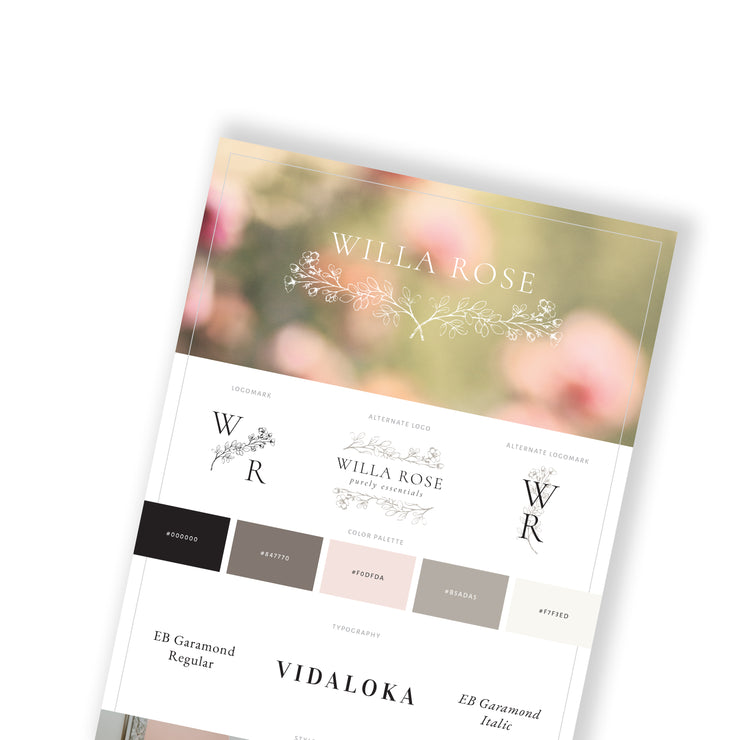 WILLA ROSE - Branded Website Template - Available on Wavoto